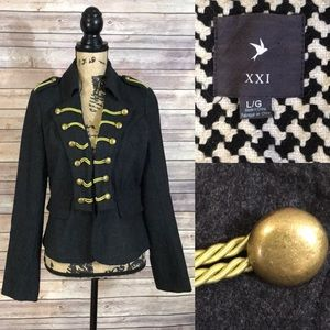 XXI Forever 21 Embellished Military Jacket